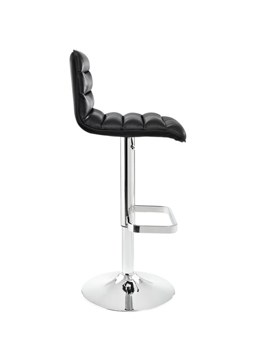 Cloud Black Leather Barstool 2
