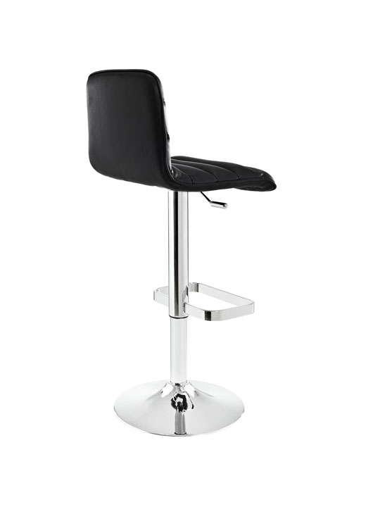 Cloud Black Leather Barstool 3