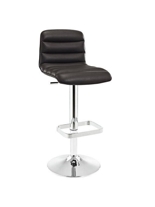 Cloud Brown Leather Barstool