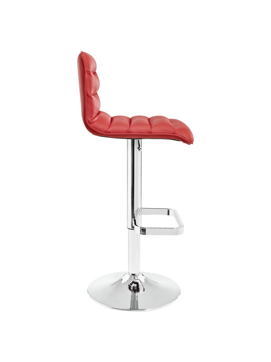 Cloud Red Leather Barstool 2