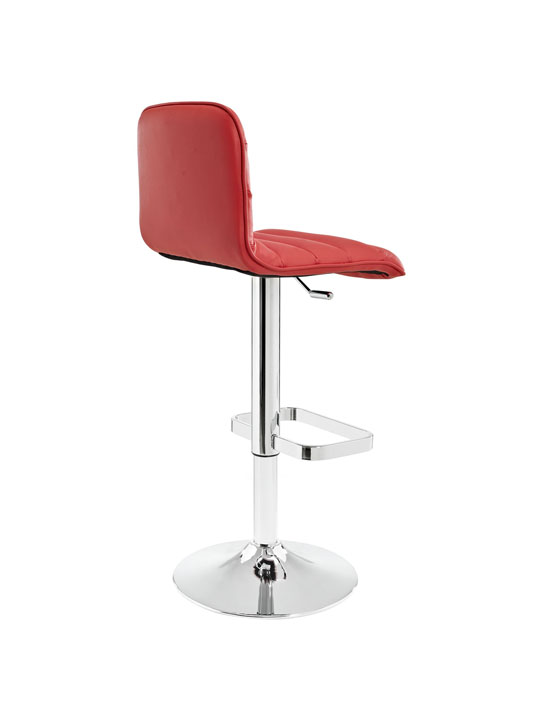 Cloud Red Leather Barstool 3
