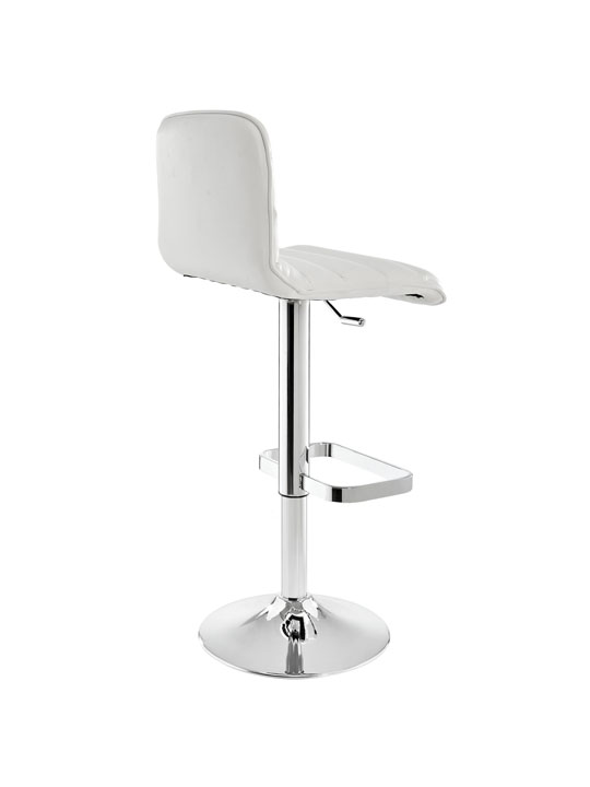 Cloud White Leather Barstool 3