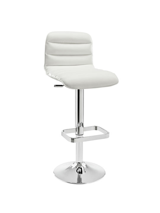 Cloud White Leather Barstool