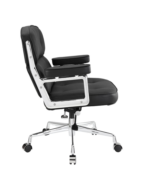 Instant Collaborator Black Leather Office Chair 2