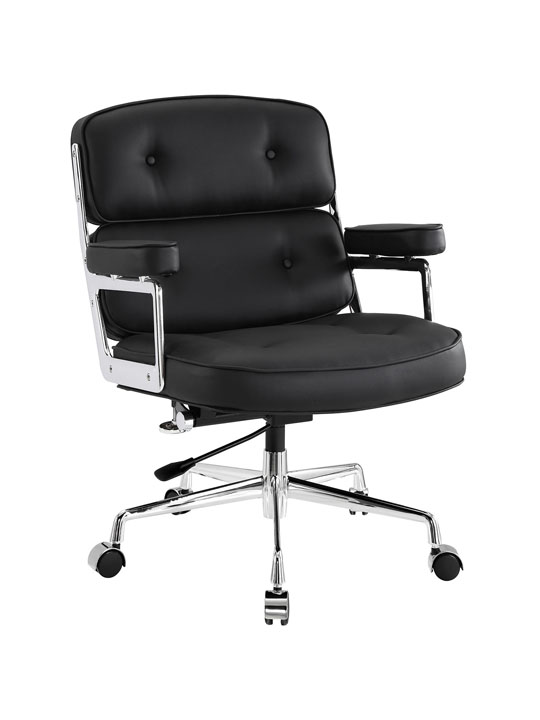 Instant Collaborator Black Leather Office Chair