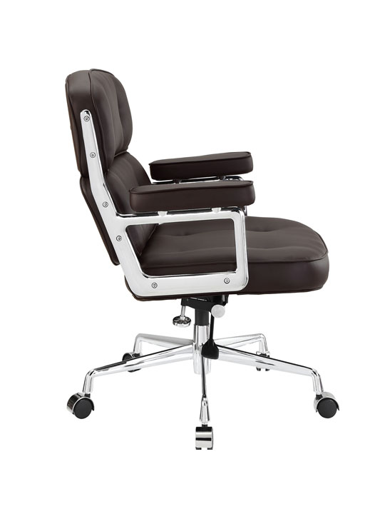 Instant Collaborator Brown Leather Office Chair 2