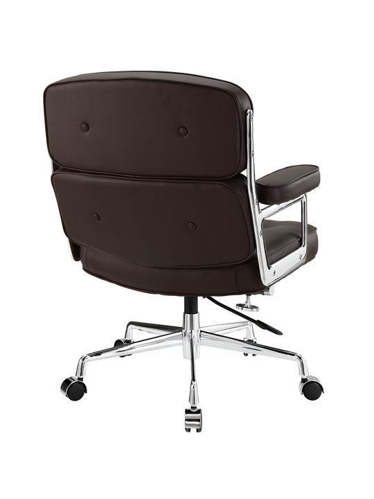 Instant Collaborator Brown Leather Office Chair 3