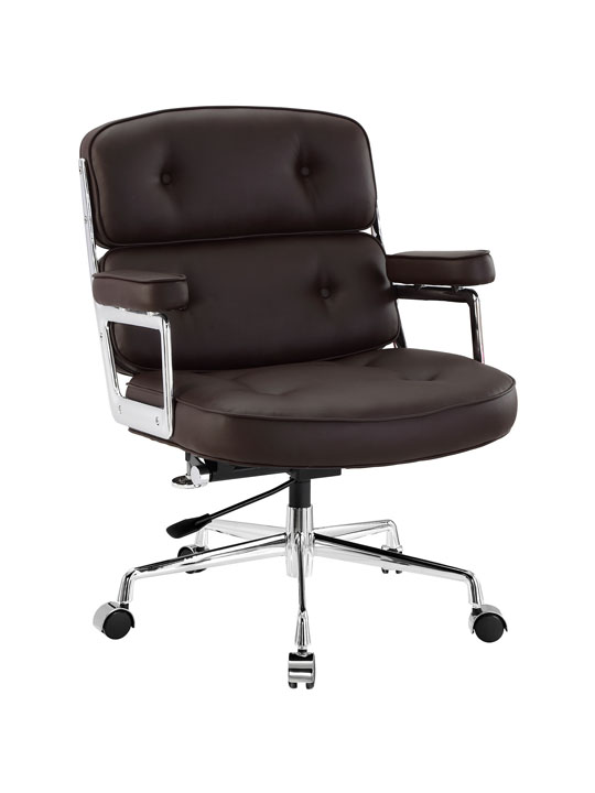 Instant Collaborator Brown Leather Office Chair