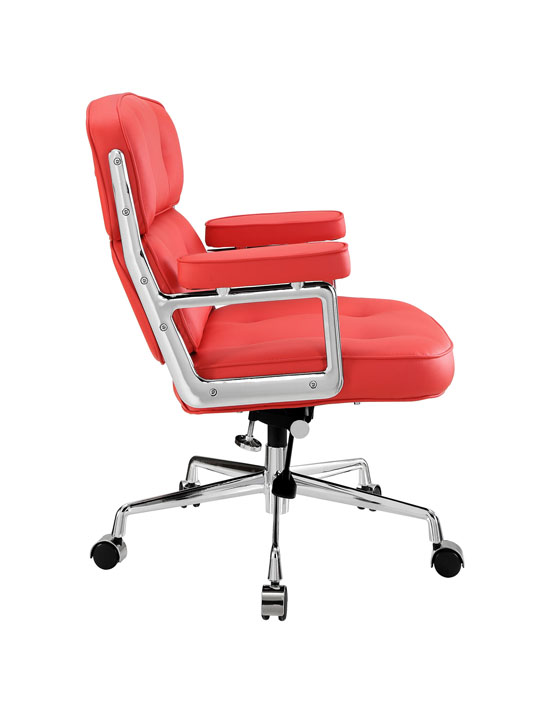 Instant Collaborator Red Leather Office Chair 2