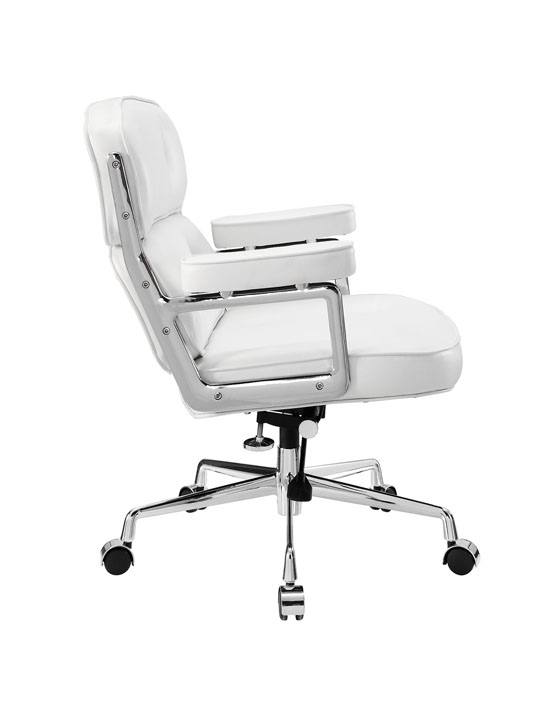 Instant Collaborator White Leather Office Chair 2