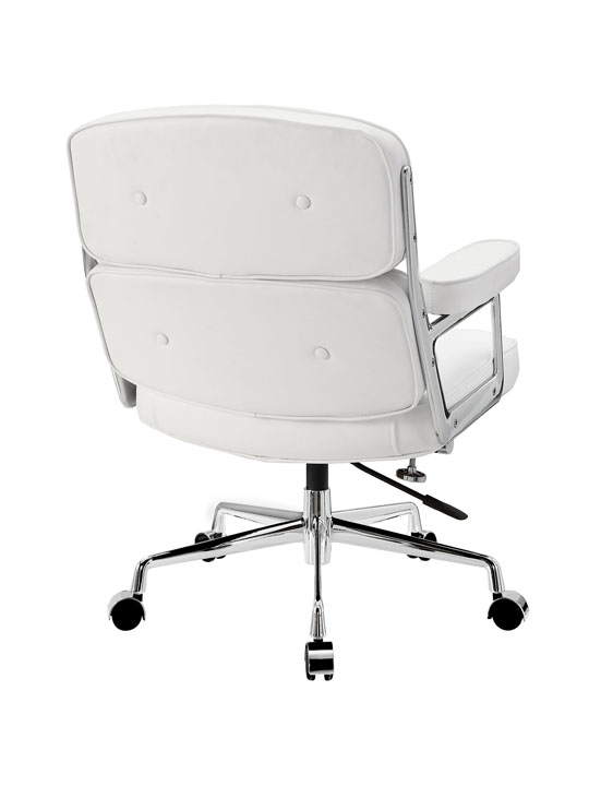 Instant Collaborator White Leather Office Chair 3