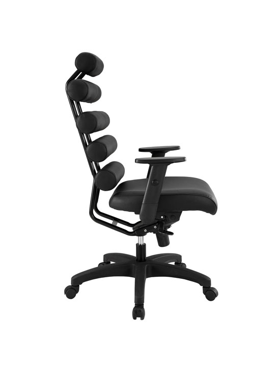 Instant Illustrator Black Leather Office Chair 2