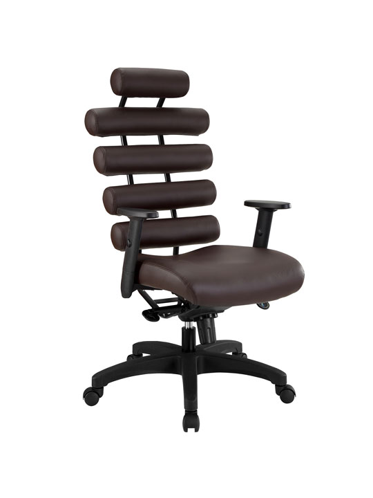 Instant Illustrator Brown Leather Office Chair