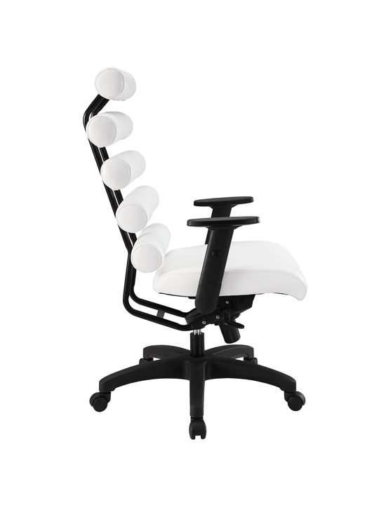 Instant Illustrator White Leather Office Chair 2
