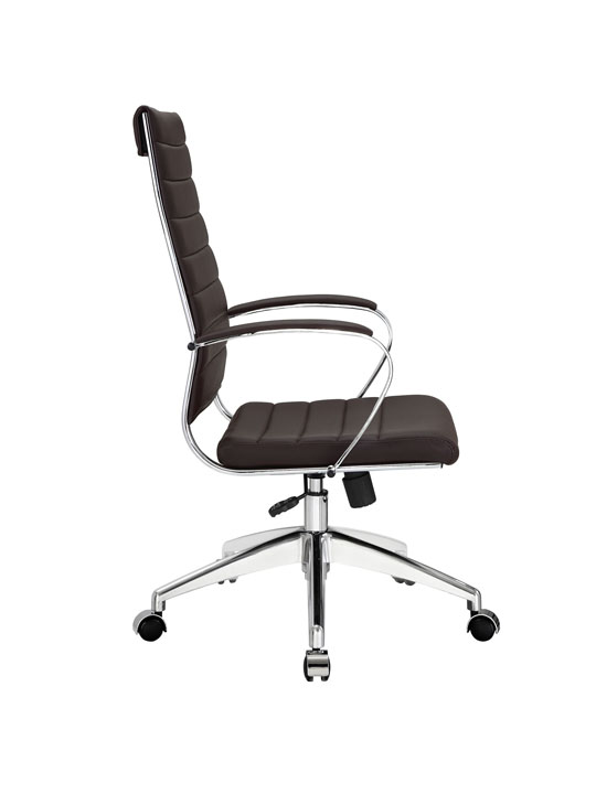 Instant Operator Office Chair Brown Leather 2