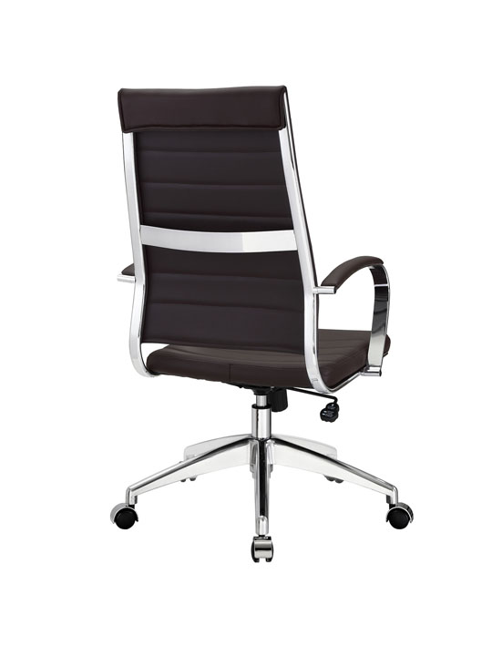 Instant Operator Office Chair Brown Leather 3