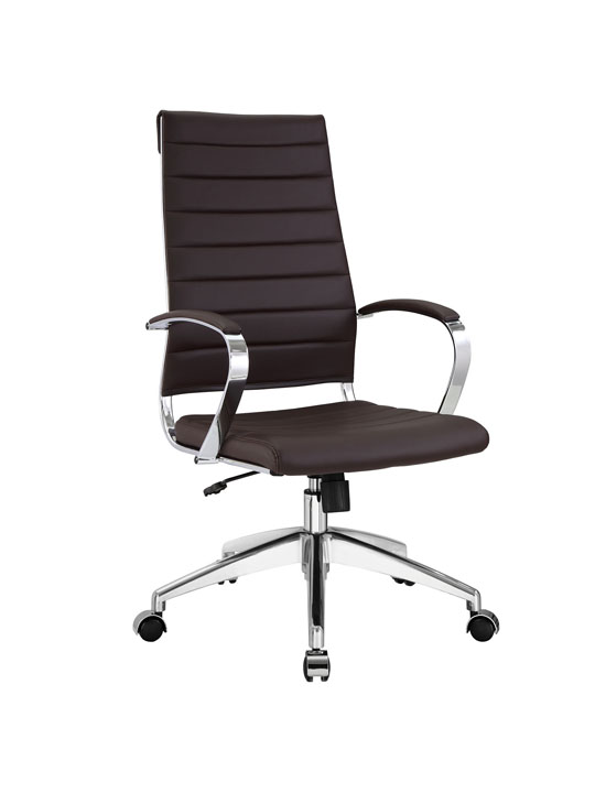 Instant Operator Office Chair Brown Leather