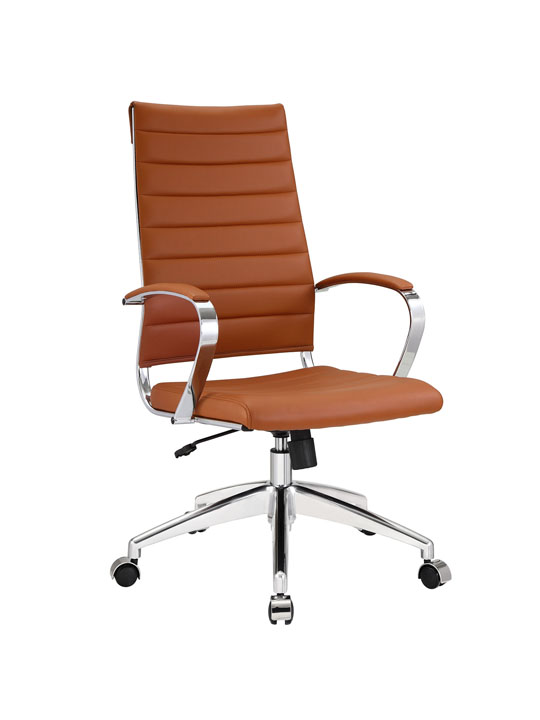 Instant Operator Office Chair Tan Leather