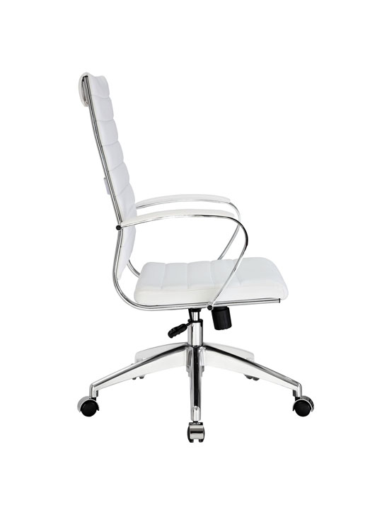 Instant Operator Office Chair White Leather 2