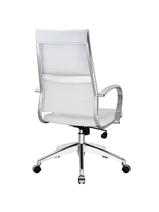 Instant Operator Office Chair White Leather 3
