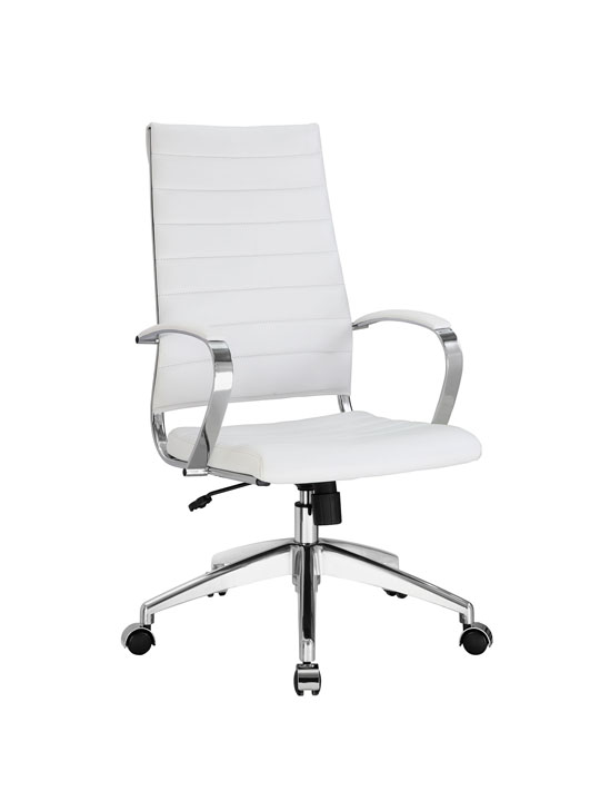 Instant Operator Office Chair White Leather