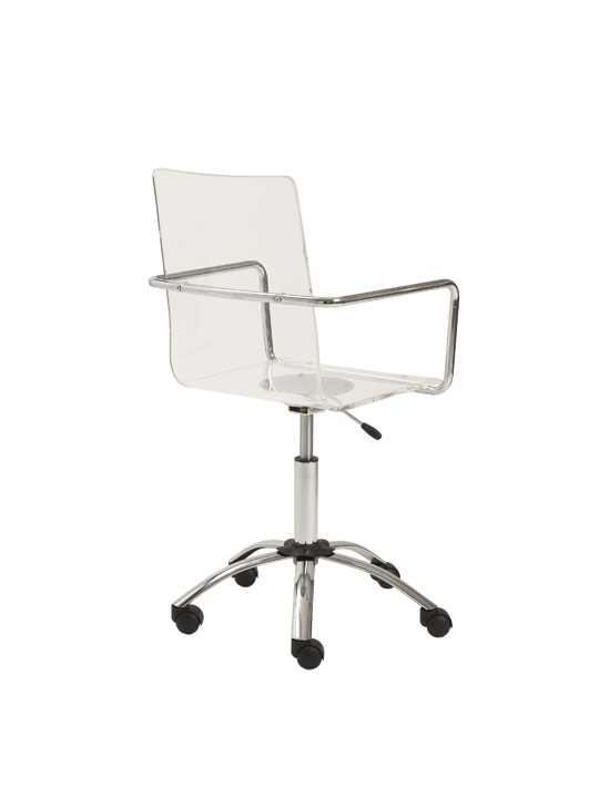 Lucid Clear Office Chair 4