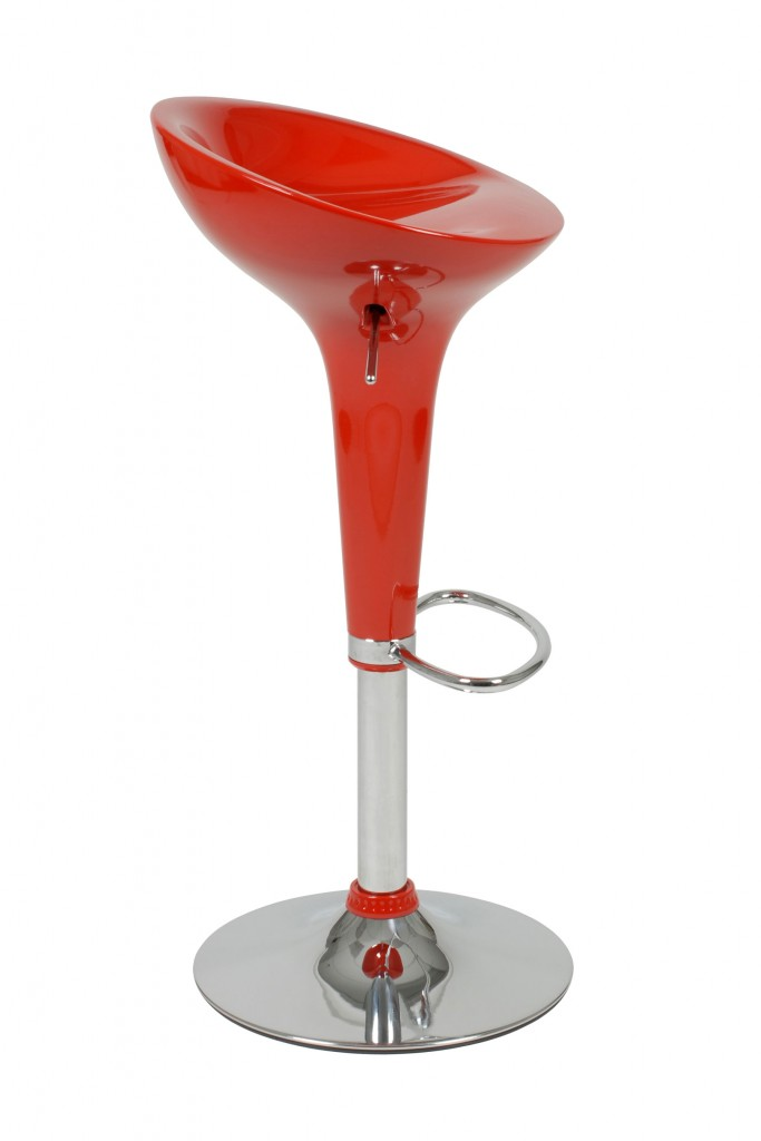 Red Retro Barstool 1