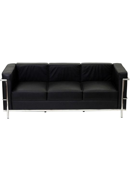 Simple Sofa Black Medium
