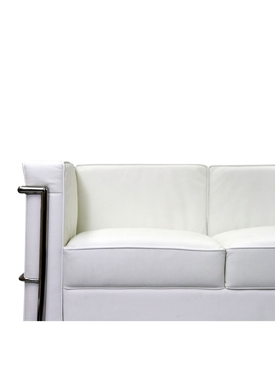 Simple Sofa White Medium 4