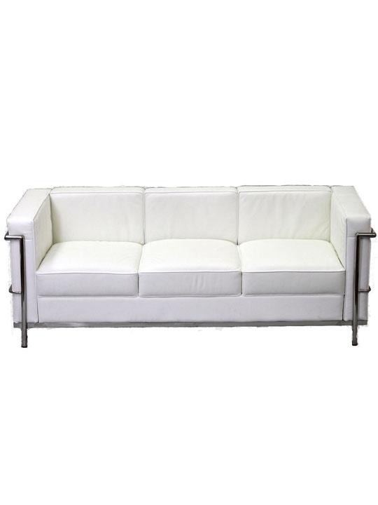 Simple Sofa White Medium