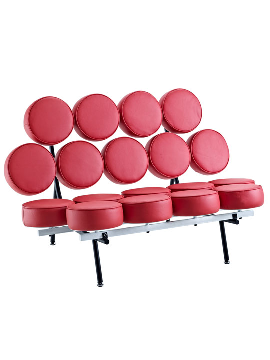 Spherical Circle Sofa Red 2