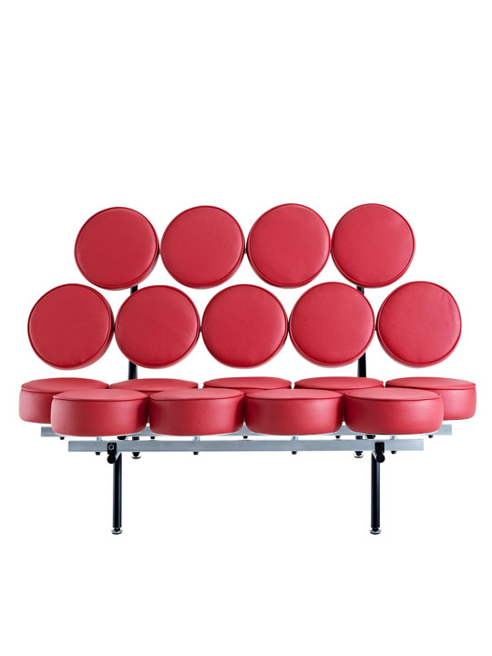 Spherical Circle Sofa Red