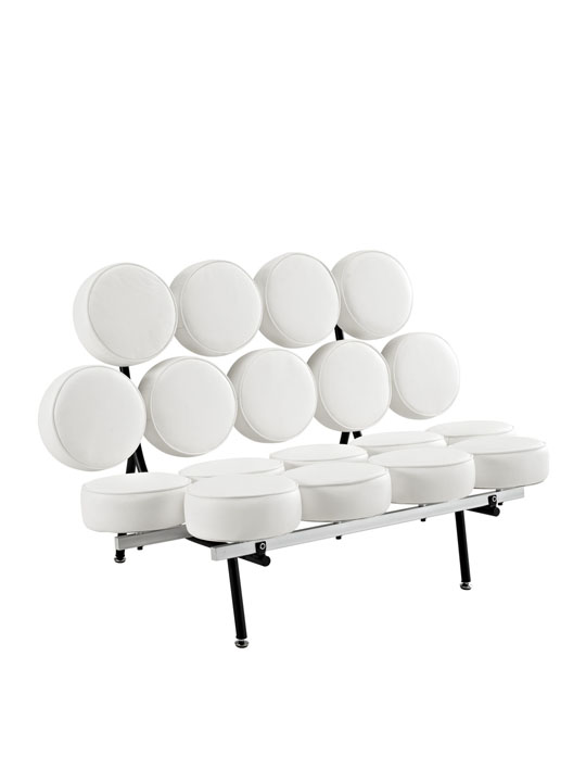 Spherical Circle Sofa White 2