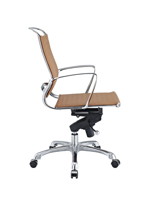 Tan Leather Coco Low Back Office Chair 2