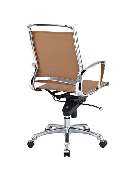 Tan Leather Coco Low Back Office Chair 3