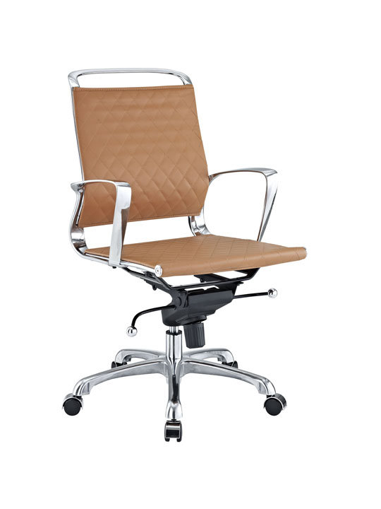 Tan Leather Coco Low Back Office Chair