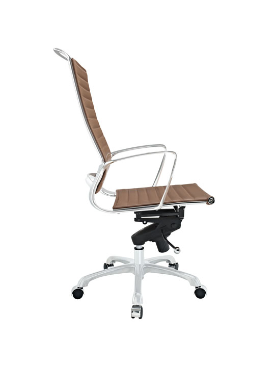 Tan Leather Instant Planner High Back Office Chair 2