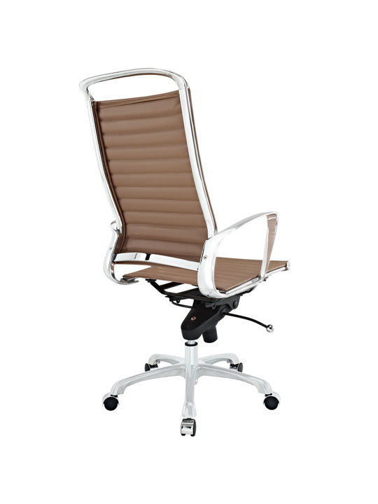 Tan Leather Instant Planner High Back Office Chair 3