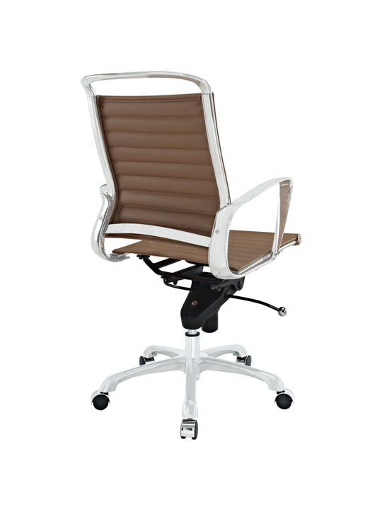 Tan Leather Instant Planner Low Back Office Chair 3