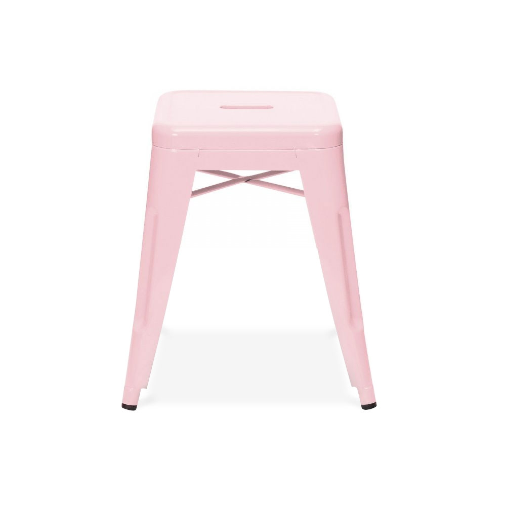 Tonic Low Metal Stool Pink
