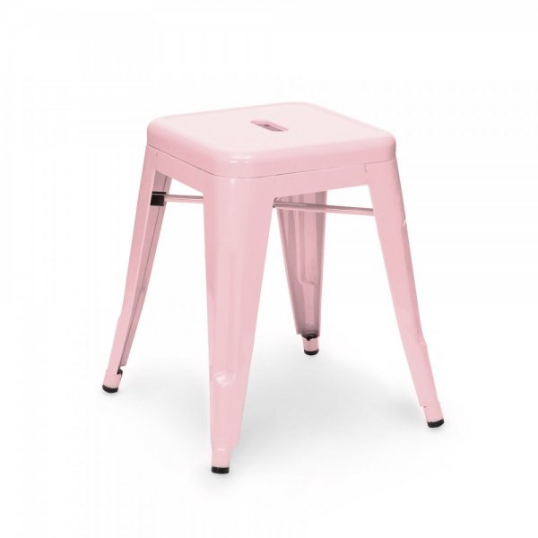 Tonic Low Stool Metal Pink Stool