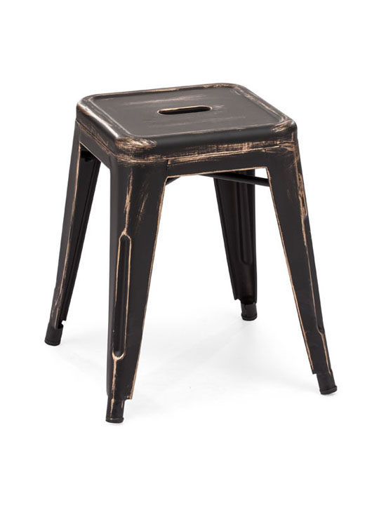 Tonic Midi Stool Distressed Black 2