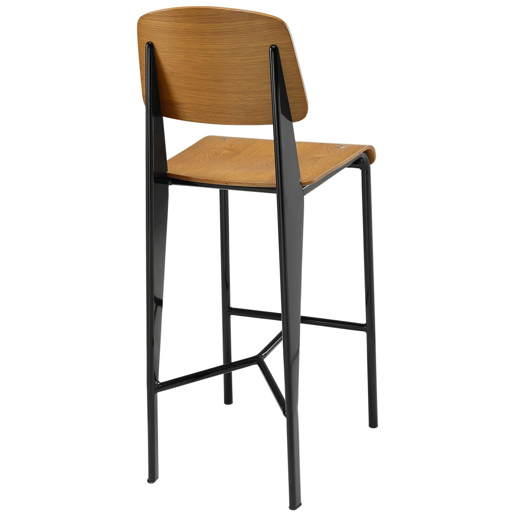 Walnut Wood Standard Barstool 2