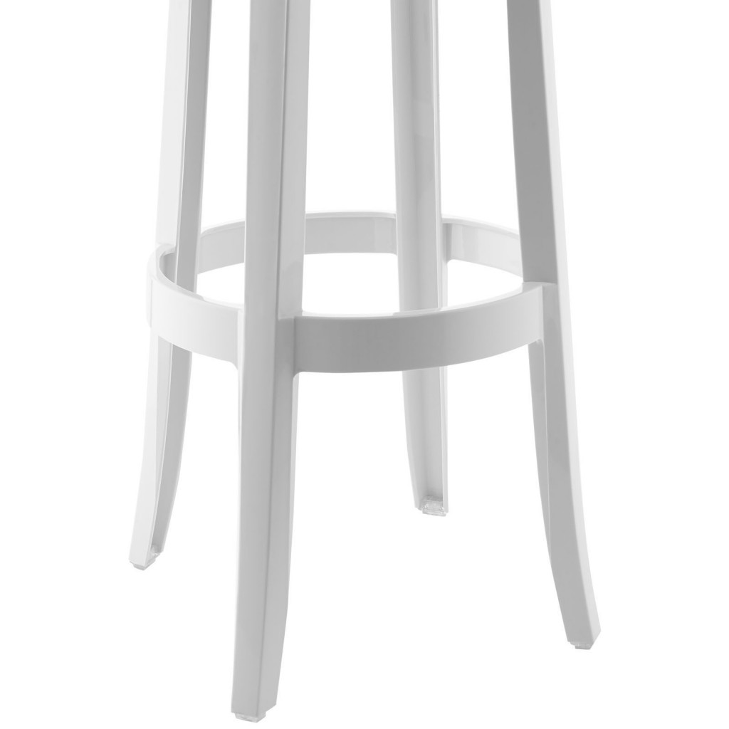 White Acrylic Barstool 3
