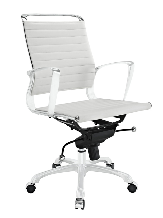White Instant Planner Low Back Office Chair