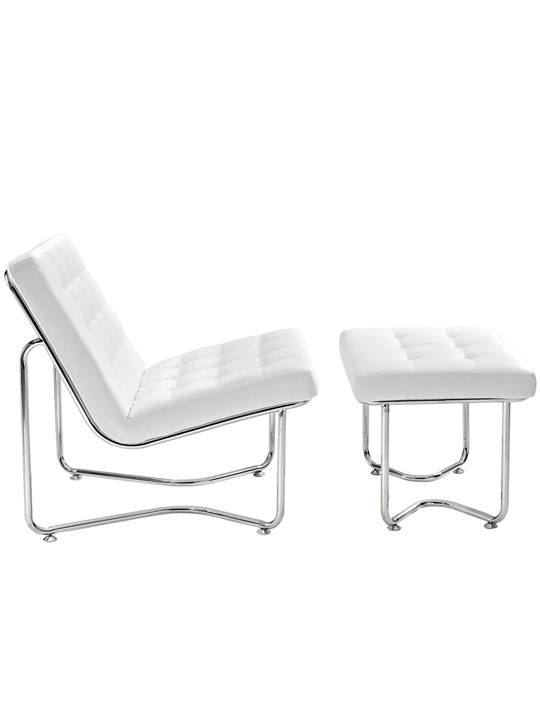 White Leather Arctic Lounge Set 2