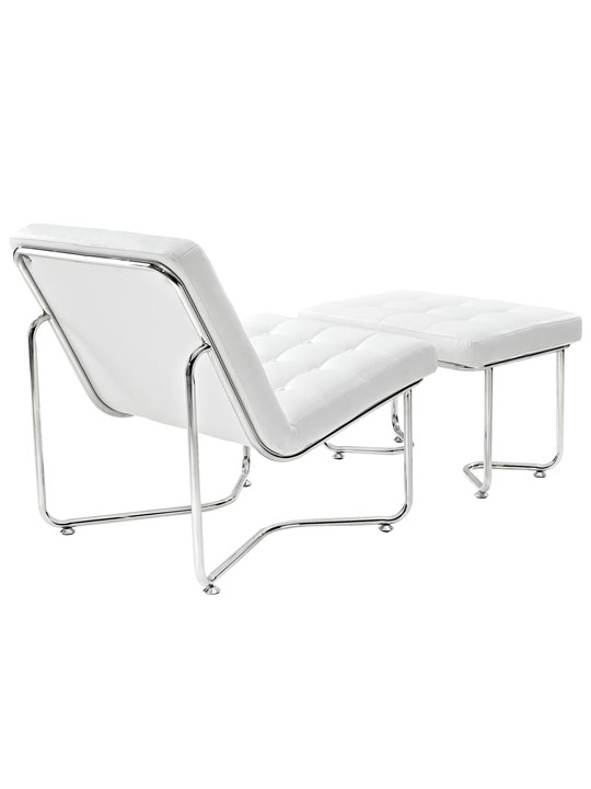 White Leather Arctic Lounge Set 3