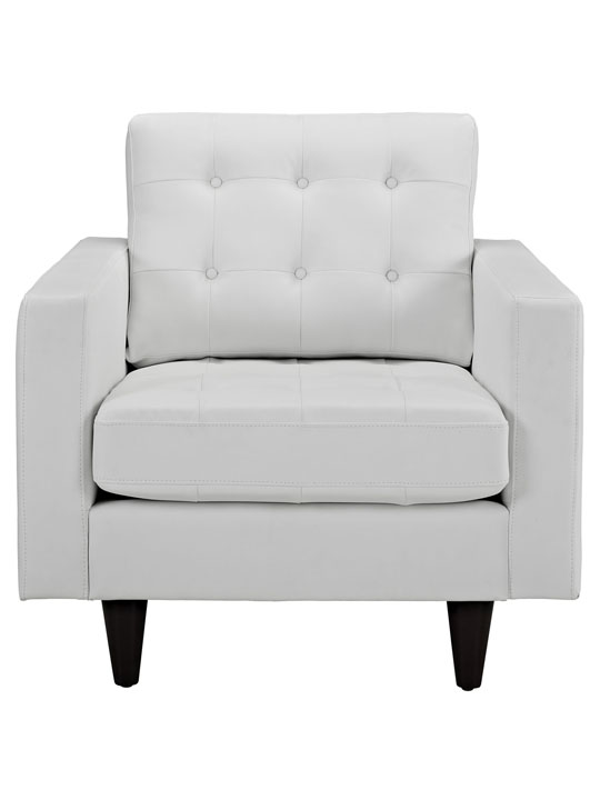 White Leather Bedford Armchair 2