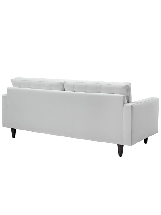 White Leather Bedford Sofa 3