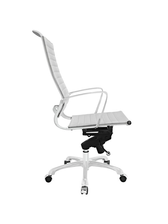 White Leather Instant Planner High Back Office Chair 2